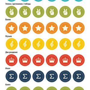 Стикеры-иконки «Делай день» №9, 10х21 см (1 см)