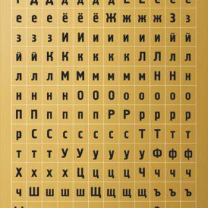 Стикеры с алфавитом «Делай день» №12, 10х21 см (золото)