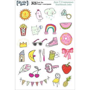 Стикеры с иллюстрациями «Делай день» №26, формат 10х15 см