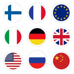 Стикеры с флагами
