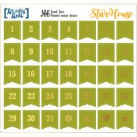 Стикеры с фольгой «Делай день». Флажки малые №6, 10х15 см (даты)