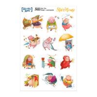 Стикеры с иллюстрациями «Делай день» №88, 10х15 см