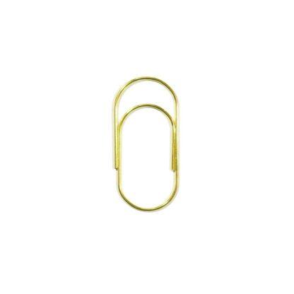 Скрепки для декорирования 50х23 мм, золото