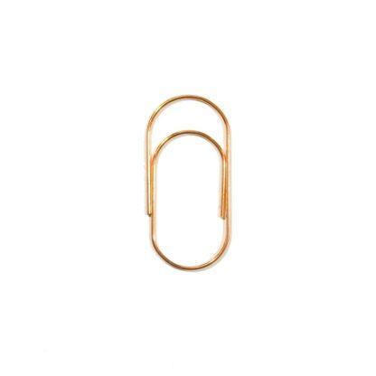 Скрепки для декорирования 50х23 мм, розовое золото