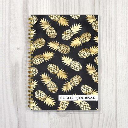 Планнер Bullet Journal на пружине, обложка «Ананасы», формат А5, (№9, 80 пронумерованных страниц)
